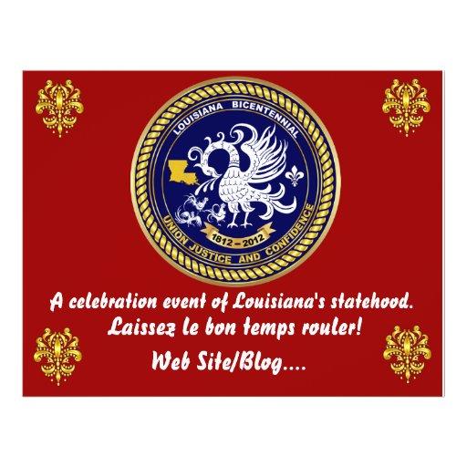 El fiesta bicentenario del carnaval de Luisiana Tarjetas Publicitarias