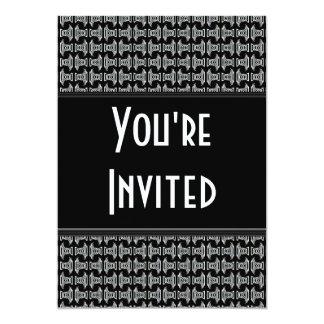 El fiesta blanco negro del modelo invita comunicados personales