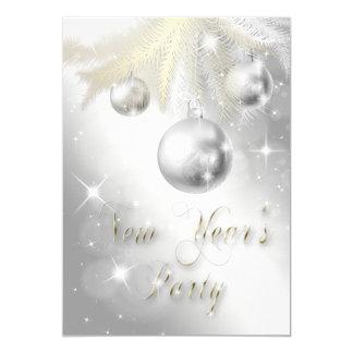 """El fiesta brillante del Año Nuevo del ornamento Invitación 5"""" X 7"""""""