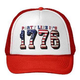 El fiesta como él es 1776 4to del gorra de julio