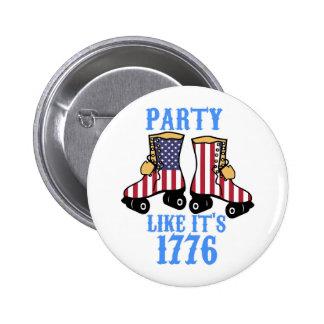 El fiesta como él es 1776 pin redondo de 2 pulgadas