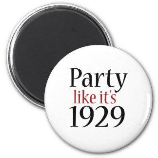 El fiesta como él es 1929 (la recesión) imán redondo 5 cm