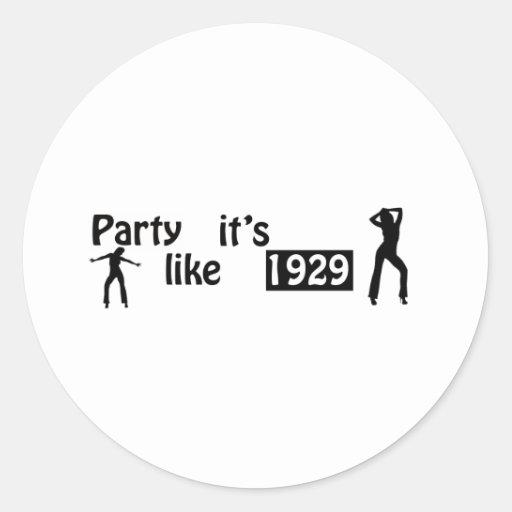 El fiesta como él es 1929 pegatina redonda