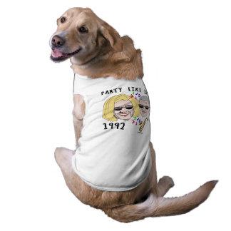 El fiesta como él es 1992 - Hillary y Bill 1992 Playera Sin Mangas Para Perro