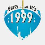 El fiesta como él es 1999 - azul oval de la ciudad adorno