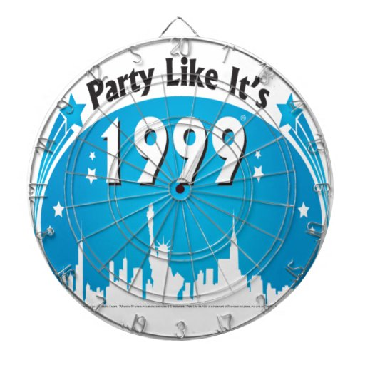 El fiesta como él es 1999 - azul oval de la ciudad tabla dardos