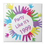 El fiesta como él es 1999 - círculo de manos azulejo cerámica