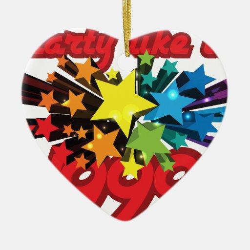 El fiesta como él es 1999 - estrellato adorno de cerámica en forma de corazón