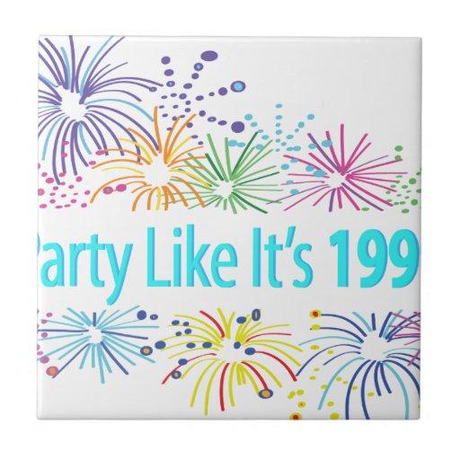 El fiesta como él es 1999 - los fuegos artificiale azulejos cerámicos