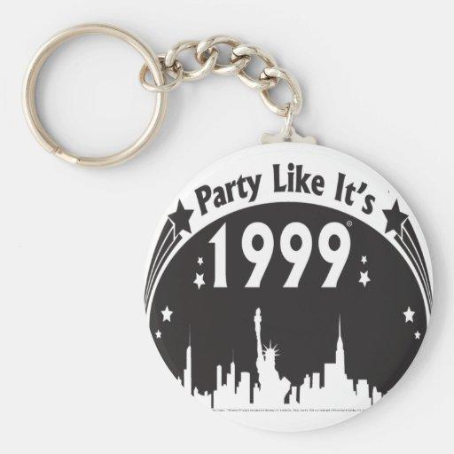 El fiesta como él es 1999 - negro oval de la ciuda llavero redondo tipo pin