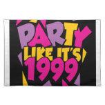 El fiesta como él es 1999 Placemat - 1 enrrollado Manteles Individuales