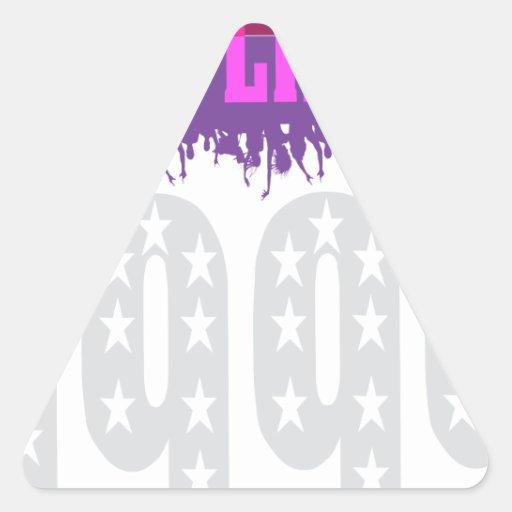 El fiesta como él es 1999 - púrpura protagonizada calcomanías trianguladas personalizadas