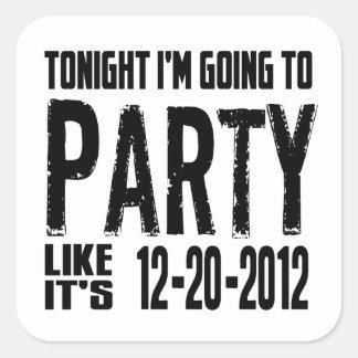 El fiesta como él es 2012 pegatina cuadrada