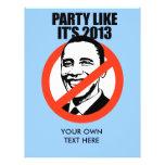 El fiesta como él es 2013 flyer personalizado