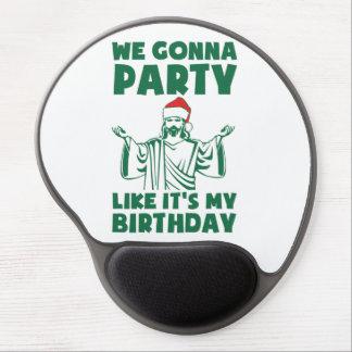 El fiesta como él es un cumpleaños del navidad alfombrillas de raton con gel