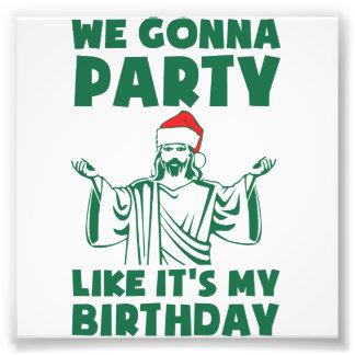 El fiesta como él es un cumpleaños del navidad fotografía