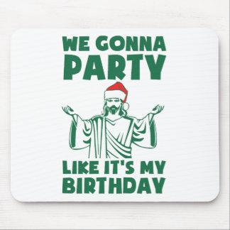 El fiesta como él es un cumpleaños del navidad tapetes de ratón