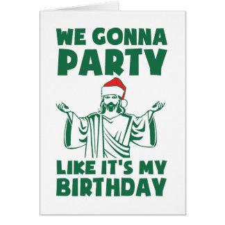 El fiesta como él es un cumpleaños del navidad felicitaciones