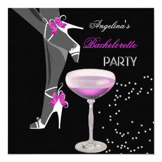 """El fiesta de Bachelorette calza el rosa de Champán Invitación 5.25"""" X 5.25"""""""