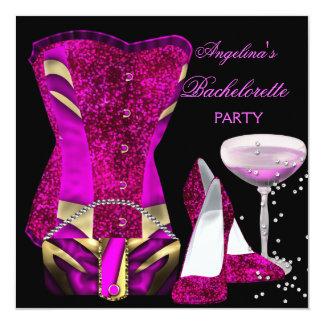 """El fiesta de Bachelorette de las rosas fuertes Invitación 5.25"""" X 5.25"""""""