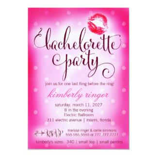 """El fiesta de Bachelorette de las rosas fuertes Invitación 5"""" X 7"""""""