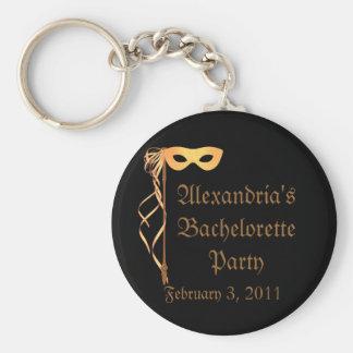 """""""El fiesta de Bachelorette de los ___"""" - disfrace  Llavero Redondo Tipo Pin"""