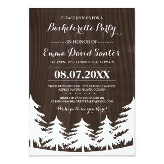"""El fiesta de Bachelorette del bosque invita Invitación 5"""" X 7"""""""