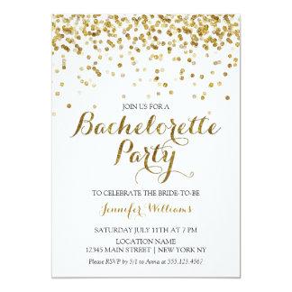 """El fiesta de Bachelorette del confeti del brillo Invitación 5"""" X 7"""""""
