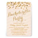 El fiesta de Bachelorette del confeti del oro que
