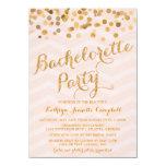 El fiesta de Bachelorette del confeti del oro que Invitación 11,4 X 15,8 Cm