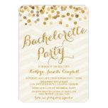 El fiesta de Bachelorette del confeti del oro que Invitación Personalizada