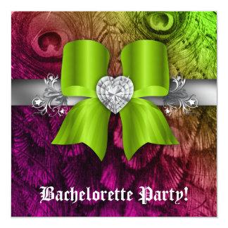 """El fiesta de Bachelorette invita al corazón de la Invitación 5.25"""" X 5.25"""""""