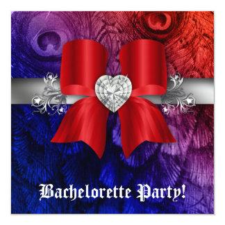 """El fiesta de Bachelorette invita al corazón del Invitación 5.25"""" X 5.25"""""""