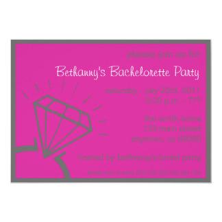"""El fiesta de Bachelorette invita (la frambuesa del Invitación 5"""" X 7"""""""