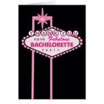 El fiesta de Bachelorette le agradece cardar - Las Tarjeta Pequeña