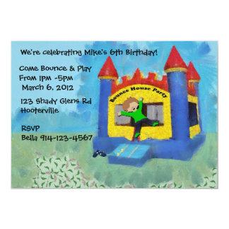 El fiesta de casa azul de la despedida invita invitación 12,7 x 17,8 cm
