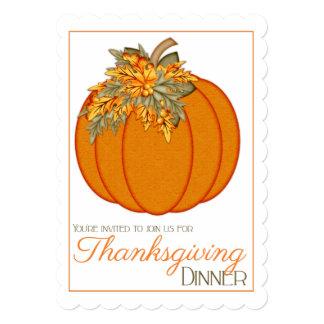 El fiesta de cena bonito de la acción de gracias invitacion personal