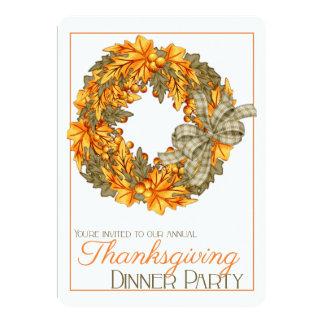 El fiesta de cena elegante de la acción de gracias comunicado personal