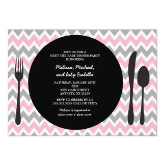 El fiesta de cena invita/reunión la ducha de la invitación 12,7 x 17,8 cm