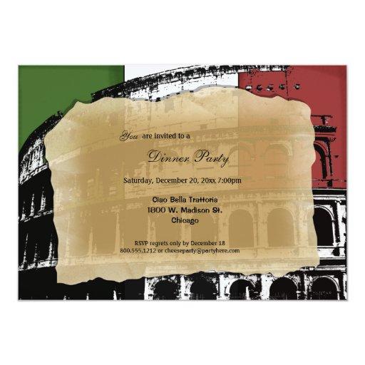 El fiesta de cena romano contemporáneo del coliseo invitación 12,7 x 17,8 cm