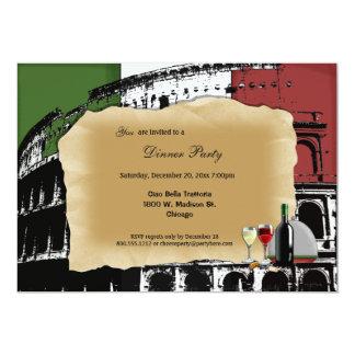 El fiesta de cena romano de moda del coliseo invitacion personal