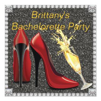 """El fiesta de Champán Bachelorette invita Invitación 5.25"""" X 5.25"""""""