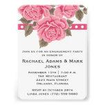 El fiesta de compromiso color de rosa rosado invit