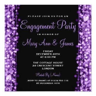 El fiesta de compromiso del boda chispea púrpura anuncios