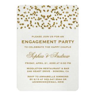 El fiesta de compromiso del confeti de la mirada anuncio