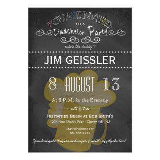 El fiesta de Dadchelor invita en tipografía de la  Invitación Personalizada