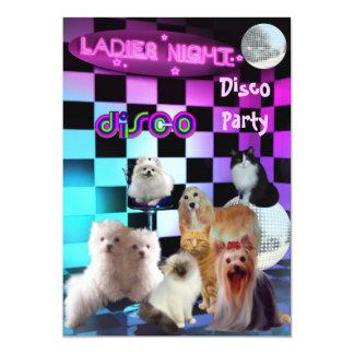 """El fiesta de disco de la noche de las señoras de invitación 5"""" x 7"""""""
