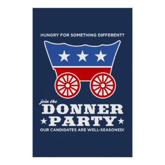 ¿El fiesta de Donner - hambriento para algo difere Póster