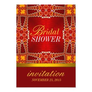 El fiesta de ducha nupcial bohemio del este real invitación 12,7 x 17,8 cm