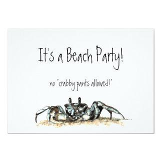 """El fiesta de encargo de la playa no invita a invitación 5"""" x 7"""""""